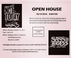 """ATTENTION LADIES - INTRODUCING SASS N BRASS!  Please join us at the Open House Monday October 17th from 5:30-7:30 PM. """"It's Girls Night Out with a Purpose!!!"""" SASS N BRASS is an all ladies group designed for ladies by ladies to provide continued ongoing education in firearms training self-awareness / self-defense personal protection and much much more. Midwest SWAT Academy is both proud and honored to sponsor this group and host the monthly meetings as well as provide a venue for a safe and…"""