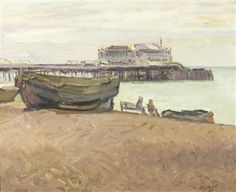 View Brighton Beach By Duncan Grant; oil on canvas; Access more artwork lots and estimated & realized auction prices on MutualArt. Duncan Grant, The English Patient, Vanessa Bell, Bloomsbury Group, Brighton And Hove, Art Themes, Great Friends, Van Gogh, Les Oeuvres