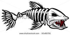 Fish skeleton by SlipFloat, via Shutterstock