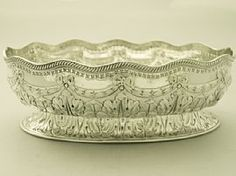 A fine and impressive antique Victorian English sterling silver bowl; an addition to our dining silverware collection http://www.acsilver.co.uk/shop/pc/Sterling-Silver-Bowl-Antique-Victorian-41p4737.htm