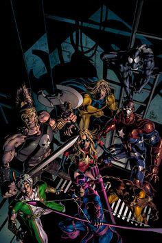 Dark Avengers 10 Cover by MikeDeodatoJr.deviantart.com on @deviantART