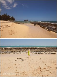 Kid-friendly beaches on the north shore of Oahu, Hawaii. Little Bird Photography