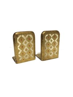 Vintage Gold Gilt Florentine Wooden Bookends Hand Made in Italy by VintageFunkHouser on Etsy