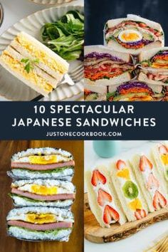 Ready to up your sandwich game this summer? Here you'll find some of the popular Japanese sandwiches that are as amazing as they look. Each one is packable, portable, and delicious. No boring ham and cheese here, we promise! Brie Sandwich, Sandwiches, Sushi Sandwich, Cuban Sandwich, Japanese Eggplant Recipes, Easy Japanese Recipes, Asian Recipes, Ethnic Recipes, Japanese Food