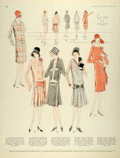 1927 Print McCalls Flapper Fashion Paris Dressmaking Patterns Frocks Bows Hats   eBay