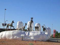 Podenco sculpture - port of Eivissa