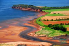 Prince Edward Island in Canada.  One of the most beautiful and peaceful places I've been too.  The dirt is red there!