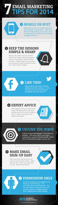7 Email Marketing Tips for 2014  #Infographic #EmailMarketing