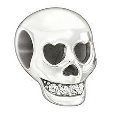 skull chamilia bead