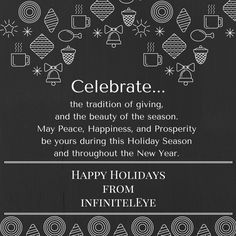 Wishing you peace, joy, and prosperity this holiday season and throughout the New Year. Happy Holidays from us at #InfinitelEye. Thank you for your continued support. #social #media #branding and #marketing #agency #localbrand #houston #niche #vision #health #holiday #greetings #blessings #affirmations #marketinguru #digitalmarketing #onlinemarketing #December #prosperity #newyear