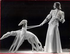 Borzoi - Art Deco - Beautiful Piece of art