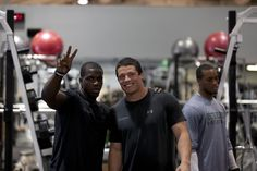 Luke Kuechly w/ Mohamed Sanu.  Have to pin Luke b/c he played football for BC and he's so incredibly good looking.