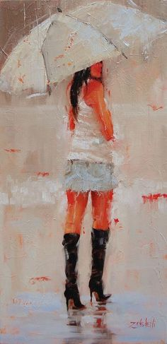 Oh Those Boots Painting by Laura Lee Zanghetti