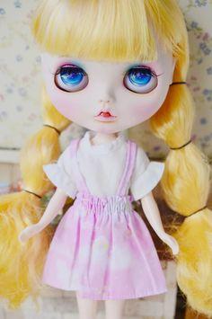 Dark Blue Bob Hair With Bangs Factory 130bl6221 Blyth Girl Doll Child Gift Blyth Doll Normal Body