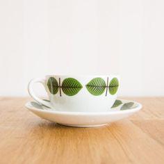 Gustavsberg Berså Bersa Teacup Saucer Set by Stig Lindberg