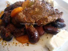 Μοσχαράκι με μαύρους ελέφαντες στην γάστρα Pot Roast, Steak, Pork, Ethnic Recipes, Elephants, Carne Asada, Kale Stir Fry, Roast Beef, Pigs
