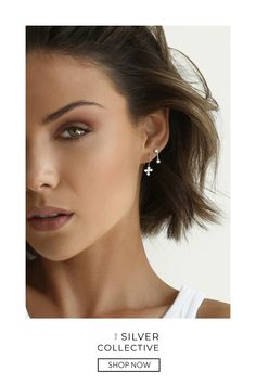 Made from 925 Sterling Silver. Build your earring stack with simple designs at an affordable price. Makeup Eye Looks, Cute Makeup, Pixie Styles, Short Hair Styles, Beauty Shoot, Hair Beauty, Chic Over 50, Ball Hairstyles, Permanent Makeup Eyebrows