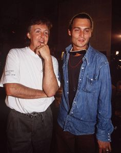 Paul McCartney and Johnny Depp. 32 Pics Of Awesome People Hanging Out