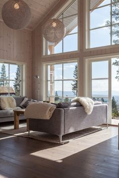 Ceilings without cross beams Norway House, Barn House Plans, Cabin Interiors, Home And Deco, Cozy House, Interior Design Living Room, Home And Living, New Homes, House Design