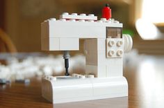 How cute is this Lego sewing machine?!