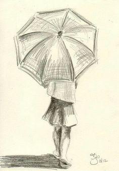 Drawing Pencil Portraits - umbrella art 26 More Discover The Secrets Of Drawing Realistic Pencil Portraits Easy People Drawings, Drawing People, Cool Drawings, Drawing Sketches, Drawing Ideas, Simple Pencil Drawings, Simple Sketches, Drawings Of People Easy, Drawing Tutorials