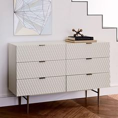 Buy west elm Audrey 6 Drawer Chest, FSC Certified (Eucalyptus), Parchment from our Chests of Drawers range at John Lewis & Partners. 8 Drawer Dresser, 6 Drawer Chest, Drawer Handles, Dresser As Nightstand, Nightstands, Bedside, Bedroom Dressers, Bedroom Furniture, Modern Furniture