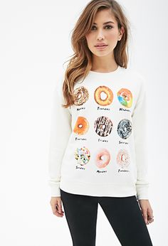 YES! Donut Days Sweatshirt | FOREVER21 - 2000118603