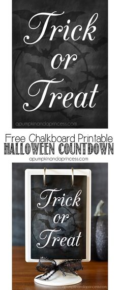 Free Chalkboard Printable to create a Halloween Countdown