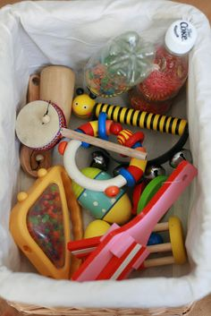 several treasure basket ideas for heuristic play (the discovery of the properties of objects.)
