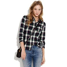 So cute for winter--I feel like I want to go pick out my Christmas tree in this flannel!