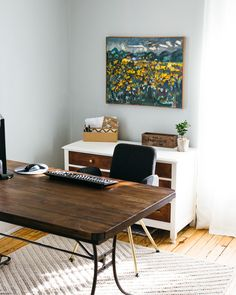 So not any of these photos in particular, but I like this article on a home office redo