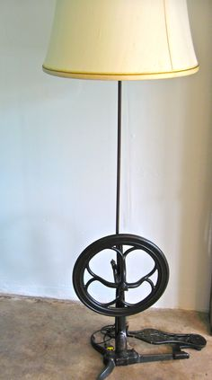 Re-purposed lamp- Vintage sewing machine base-sold