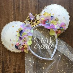 Minnie Ears | So Cute | Veil | Flowers | Crown | Disney