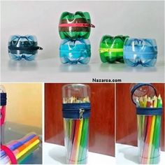 Recycled Plastic Bottles Into Lovely Turtles more details here… Mini Pet Bottle Greenhouse DIY Solar Water Bulb more details here… Plastic Bottle Hanging Vase Reuse Plastic Bottles, Plastic Bottle Crafts, Fun Crafts, Diy And Crafts, Crafts For Kids, Pet Bottle, Bottle Art, Plastik Recycling, Diy Projects To Try