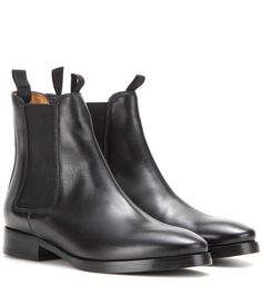 Acne Studios - Bess leather Chelsea boots - A classic pair of black Chelsea boots is a fall/winter wardrobe staple well worth investing in. We love Acne Studios' 'Bess' style. The smooth black leather gives them a timeless look, while the elasticated sides make them easy to slip on and off. seen @ www.mytheresa.com