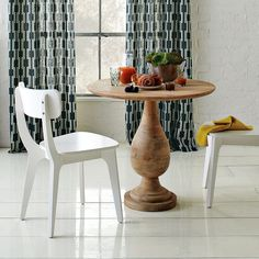 Turned Pedestal Table from West Elm