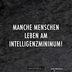 Manche Menschen leben am Intelligenzminimum! Some people live on the intelligence minimum! Funny Memes, Jokes, Life Rules, Meaning Of Life, Puns, Meant To Be, Haha, Self, Wisdom
