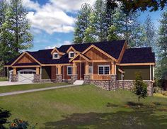 Super duper in my dreams house. House Plan 63547 | Ranch    Plan with 4466 Sq. Ft., 4 Bedrooms, 4 Bathrooms, 3 Car Garage