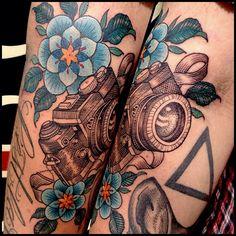 #camera #tattoo by Sam Smith
