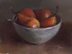 Daily paintings | Bowl of pears | Postcard from Provence