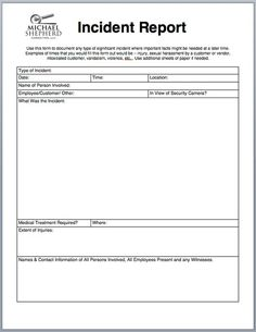 Incident Report Templates Simple Mandy Goh Mdyboy On Pinterest