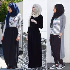 Elegant hijab street style http://www.justtrendygirls.com/elegant-hijab-street-styles/