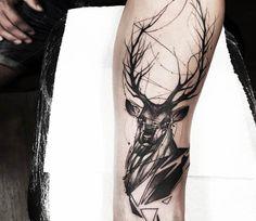 Deer tattoo by Felipe Rodrigues