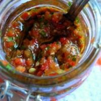 Hot Pepper Relish   I love to serve this with cream cheese and crackers! But perfect on Burgers, Subs, Hot Dogs, etc. for the BBQ season too!