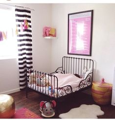 Girls\' Bedroom Style | Ikea toddler bed, Toddler bed and Twins