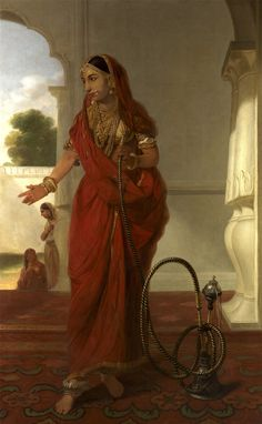 Tilly Kettle Indian Dancing Girl With Hookah England Oil on Canvas, 193 x cm Yale Center for British Art, Paul Mellon Collection Realistic Paintings, Old Paintings, Indian Paintings, Indian Art Gallery, Indian Aesthetic, Ariana Grande Drawings, Watercolor Art Face, Royal Indian, Vintage India