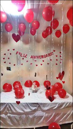 Boyfriend Anniversary Gifts, Year Anniversary Gifts, Boyfriend Birthday, Boyfriend Gifts, Husband Birthday Decorations, Valentine Decorations, Birthday Photo Banner, Diy Birthday, Valentines Surprise