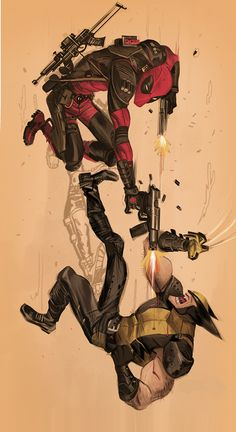 Deadpool vs Wolverine by Dan Mora, via Behance