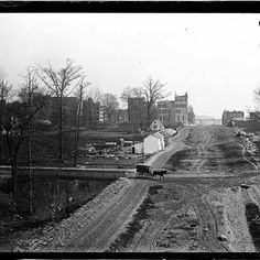 """Bracklow, Small Farm Dwellings, - NY Street Scenes - Museum Images (""""appears to be Central Park at the opening stages"""") Old Pictures, Old Photos, Vintage Photos, New York City Pictures, World's Columbian Exposition, New Amsterdam, Manhattan Nyc, Old Photography, Vintage New York"""