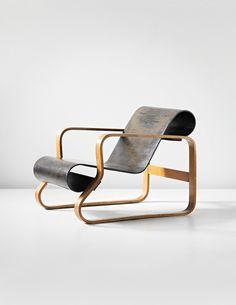 Alvar Aalto, 'Paimio' armchair, model no. 41/8-2, designed for the Tuberculosis Sanatorium, Paimio